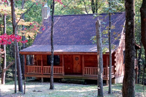 Genial Hidden Hills Log Cabins Is A Newly Built And Completely Furnished Luxury  Cabin With Fully Equipped Kitchen, Gas Fireplace, Two Full Baths, Two  Bedrooms, ...